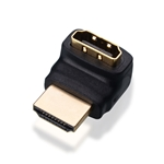 HDMI Male to HDMI Female 270 degree adapter, Gold Plated
