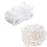 100 pcs Cat5E Modular Plugs RJ45 for Stranded Cable CableMatters CableMatters.com