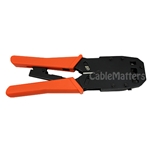 Multi-Modular Plug Crimps, Strips, and Cuts Tool with Ratchet CableMatters CableMatters.com