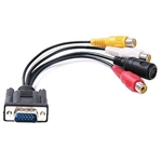 VGA Adapter to TV S-Video RCA Out Cable for PC Video/Matrox Video Cards