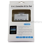 5 in 1 USB Camera Connection Kit for Apple iPad iPad 2