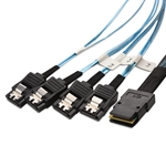 Mini SAS 36P to SATA 7F(X4) 1.6 feet cable(SFF-8087)