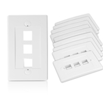 Wall Plate for Keystone, 3 Hole - White