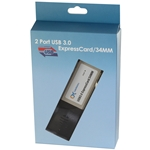 2 Port ExpressCard SuperSpeed USB 3.0 Card Adapter