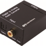 Digital Coax & Optical Toslink to Analog Audio Converter