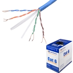 1000FT Cat 6 Bulk Bare Copper Ethernet Network Cable UTP, Solid, Plenum Jacket (CMP), 550MHz, 23AWG