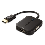 Cable Matters DisplayPort to HDMI/DVI/VGA Male to Female 3-in-1 Adapter