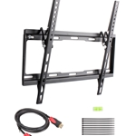 Tilt TV Wall Mount for 32-55 inch LCD/LED with 6 Feet High Speed HDMI Cable