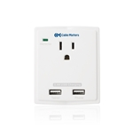 Single-Outlet Wall Mount Surge Protector with 2.4A Dual USB Charging Ports