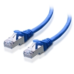 1ft Cat6 550 MHz SSTP (Screened Shielded Twisted Pair) Snagless Patch Cable in Blue