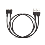 USB Type A Male / Micro B Male Cable, 2.0 Version, Black, 15 ft