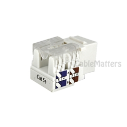 Cat5E RJ-45 Tool-less Keystone Jack in White CableMatters CableMatters.com