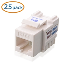 Cat6 RJ-45 Tool-less Keystone Jack in White CableMatters CableMatters.com