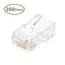 100 pcs Cat5E Modular Plugs RJ45 for Solid Cable