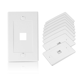 Wall Plate for Keystone, 1 Hole - White