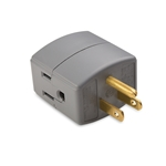 Buy Electronics Power Accessories :  Grounded Cube Wall Tap,  Light Bulb Adapter,  Duplex Electrical Receptacle Cover | Cable Matters