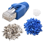 (50-Pack) RJ45 Cat 6A Shielded Modular Plugs with Strain Relief Boots
