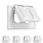 5-Pack Single-Gang Weather-Resistant Duplex Horizontal Receptacle Flip Covers