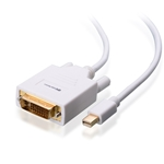 15ft Mini DisplayPort to DVI Cable, Gold Plated