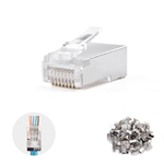 Cable Matters 100-Pack Cat6a RJ45 Shielded Pass-Through Modular Plugs