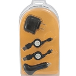 4-in-1 Micro USB Cell Phone Charger for BlackBerry, HTC, LG, Mototola, Nokia, Samsung Cell Phones CableMatters CableMatters.com