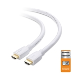 10ft High Speed HDMI Cable in White for 3D 4K HD Displays, Gold Plated Connectors CableMatters, CableMatters.com