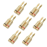 Cable Matters 7-Pair Crimp and Twist Closed Screw Banana Plugs for Speaker Wire