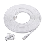 Cable Matters Cat6 Snagless Flat Ethernet Cable with Nail-in Cable Clips