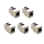 [UL Listed] Cable Matters (5 Pack) RJ45 Shielded Cat6 Keystone Jack In-Line Couplers