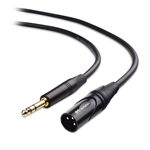 Cable Matters 6.35mm (1/4 Inch) TRS to XLR Cable (XLR to TRS Cable) Male to Male