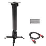 Projector Adjustable Ceiling Mount with 6 Feet High Speed HDMI Cable