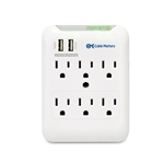 Cable Matters 6 Outlet Wall Mount Surge Protector with USB Charging (Updated Version with Dimmed LED Light)