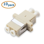 Cable Matters 10 Pack Multimode Duplex Fiber LC Coupler & Adapter with Flange for OM1 and OM2