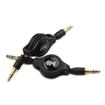Cable Matters 2-Pack Gold-Plated Retractable 3.5mm Stereo Audio Cable - 2.5 Feet