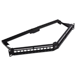 "Cable Matters 24-Port Keystone Jack Blank 19"" Angled Patch Panel"