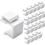 (20-Pack) Blank Keystone Jack Inserts in White