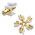Cable Matters (5-Pack) Gold-Plated RCA Keystone Jack Inserts