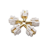 Cable Matters (5-Pack) Gold-Plated 3.5mm TRS Keystone Jack Inserts