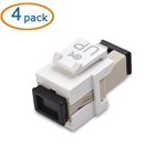 Cable Matters 4-Pack SC to SC Simplex Fiber Keystone Jack in White