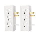 2-Pack, 6-Outlet Grounded Side Access Wall Tap