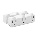 2-Pack, 3-Outlet Grounded Wall Tap Strip
