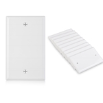 [UL Listed] Cable Matters 10-Pack Single-Gang Blank Wall Plate Cover