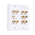 Cable Matters Double Gang 5.1 Speaker Wall Plate