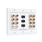 Cable Matters Triple Gang 7.2 Speaker Wall Plate with HDMI