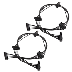 Cable Matters (2 Pack) 15 Pin SATA to 4 SATA Power Splitter Cable
