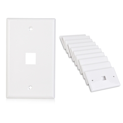 Cable Matters (10-Pack) Low Profile 1 Port Keystone Jack Wall Plate