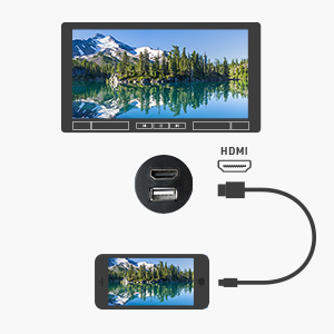 Cable Matters Car Stereo HDMI and USB Port Extender Cable/USB HDMI Car Mount Cable
