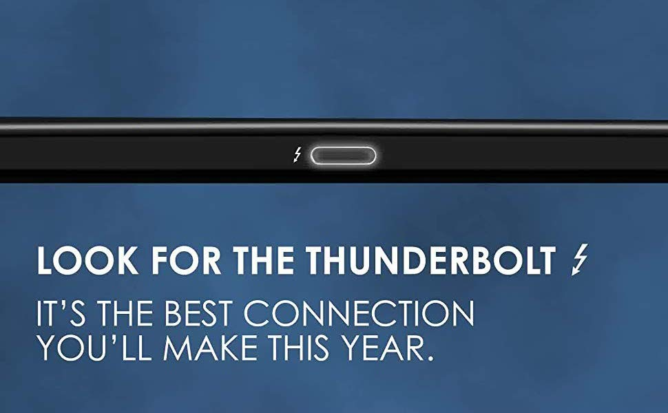 Look for the Thunderbolt logo