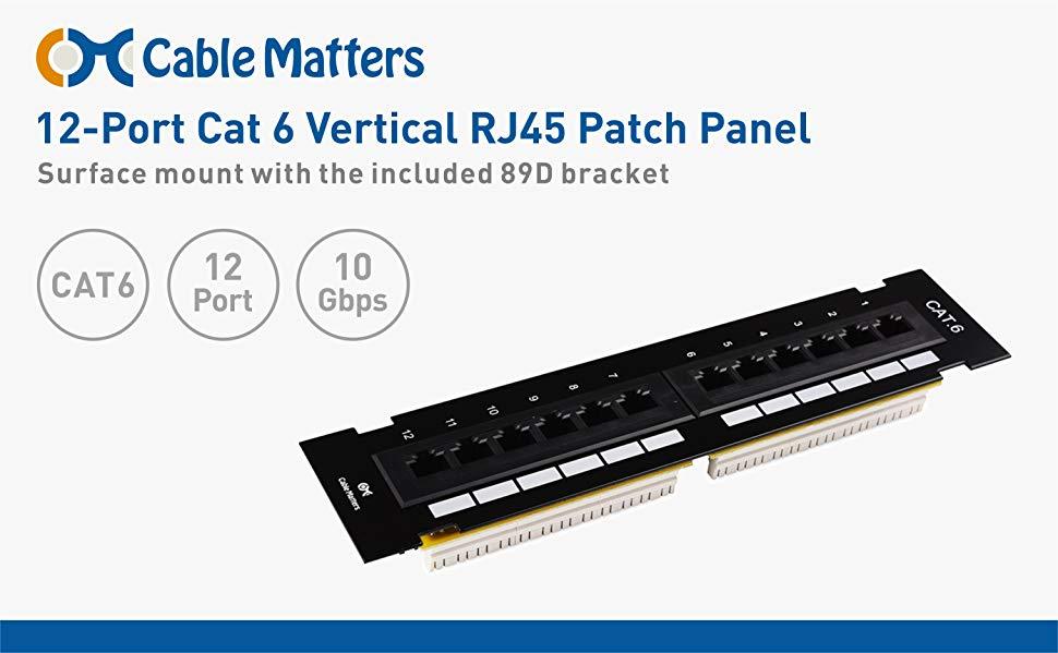 12-port vertical cat6 mini patch panel