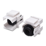 Cable Matters (2-Pack) Digital Audio Toslink Keystone Jack Coupler (S/PDIF Coupler up to 35 Feet)